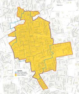 mapa obszaru rewitalizacji w Łodzi